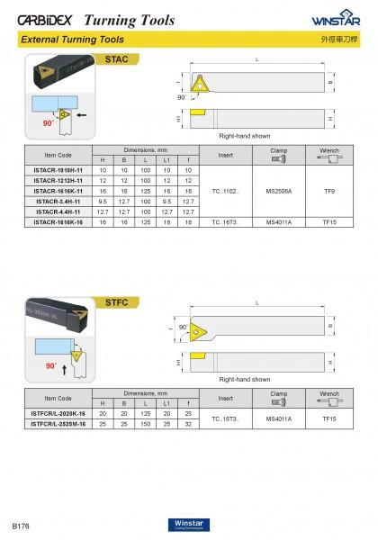 Cán dao tiện ngoài STAC / STFC