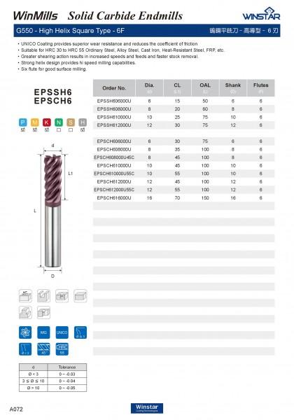 Dao phay hợp kim S6 G550 Winstar